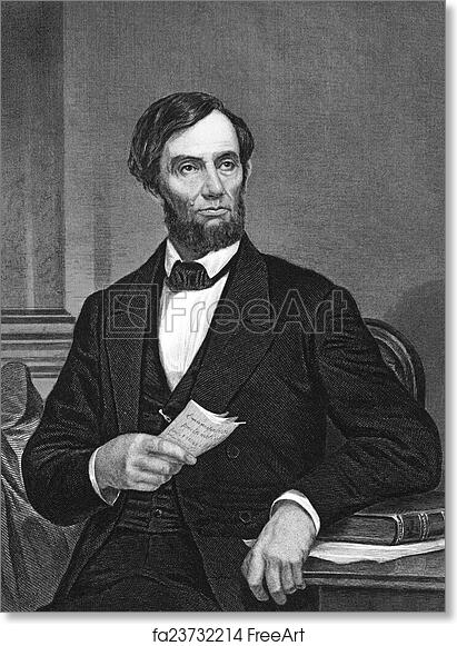 photograph regarding Printable Pictures of Abraham Lincoln named No cost artwork print of Abraham Lincoln
