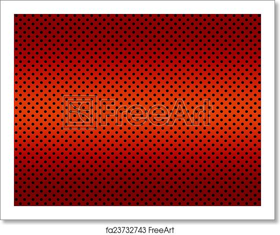 Free Art Print Of Gradient Red Color Perforated Metal Sheet