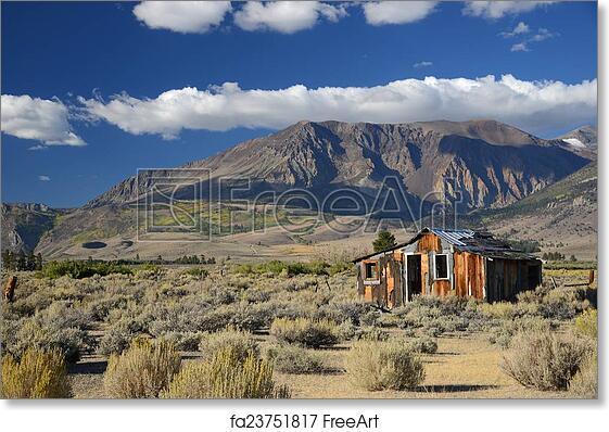 Free art print of Abandoned house in sierra
