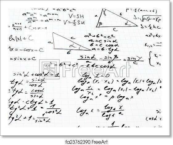 Free art print of Trigonometry math equations and formulas