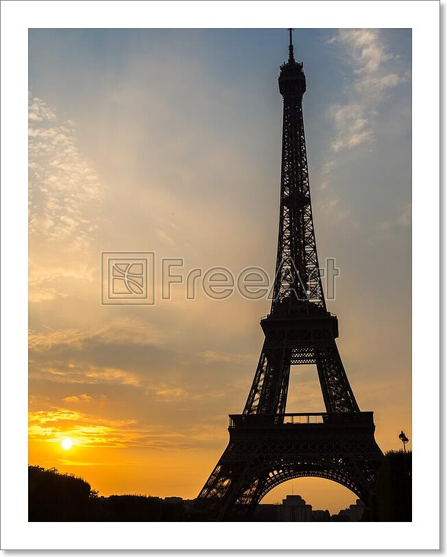 Details About Eiffel Tower At Sunset In Paris Art Print Home Decor Wall Art Poster