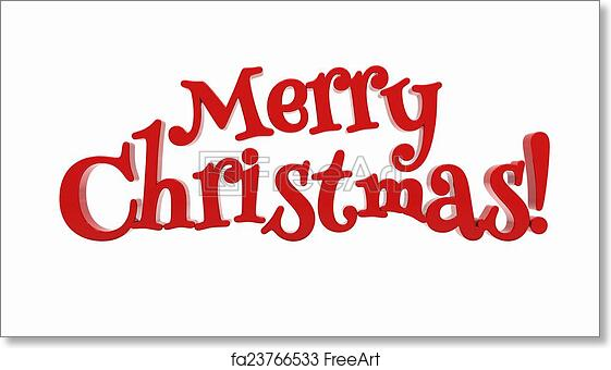Christmas Lettering.Free Art Print Of Merry Christmas Lettering Isolated