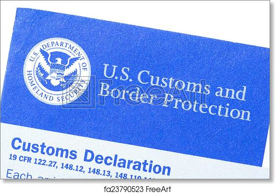 Free art print of customs declaration form macro closeup of us free art print of customs declaration form thecheapjerseys Images