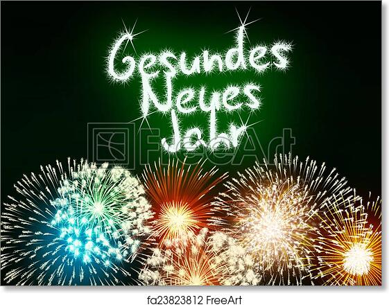 free art print of gesundes neues jahr german happy new year
