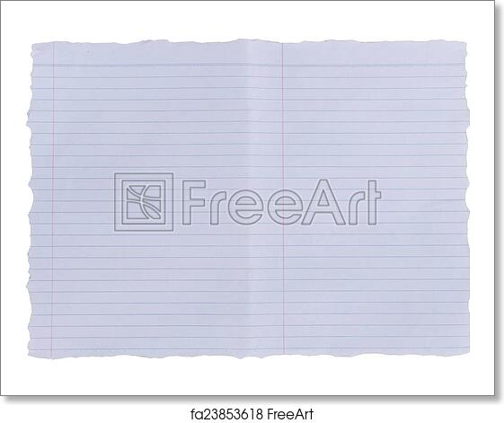 Free Art Print Of Lined Paper Background