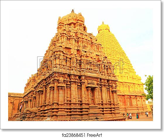 Free art print of Brihadeshwara Temple and grounds, tanjore Thanjavur tamil  nadu i