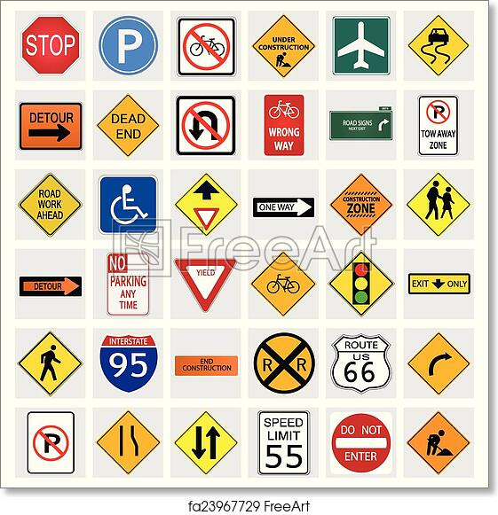 image relating to Free Printable Road Signs identify Totally free artwork print of Highway Signs and symptoms