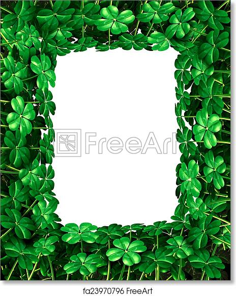 Free Art Print Of Clover Leaf Frame Border
