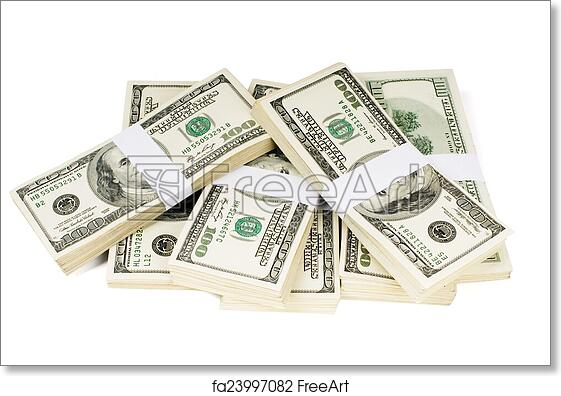 Free art print of Isolated Stacks of Money