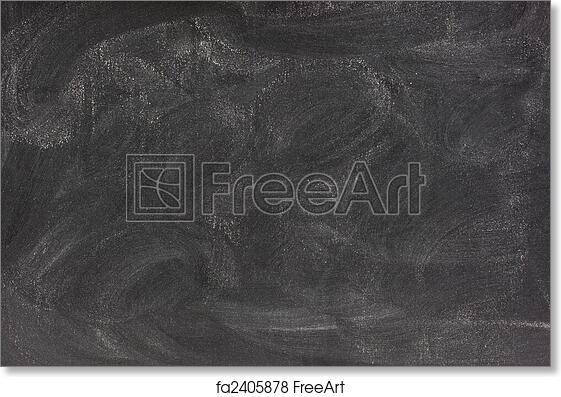 free art print of blank chalkboard with eraser smudges