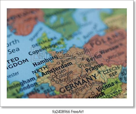 Free Art Print Of Netherlands Germany Map Europe Map Of - Netherlands germany map