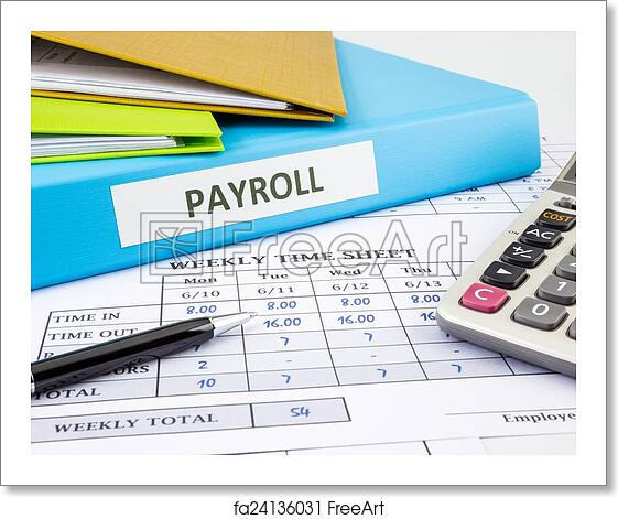 free art print of calculate payroll for employee payroll word on