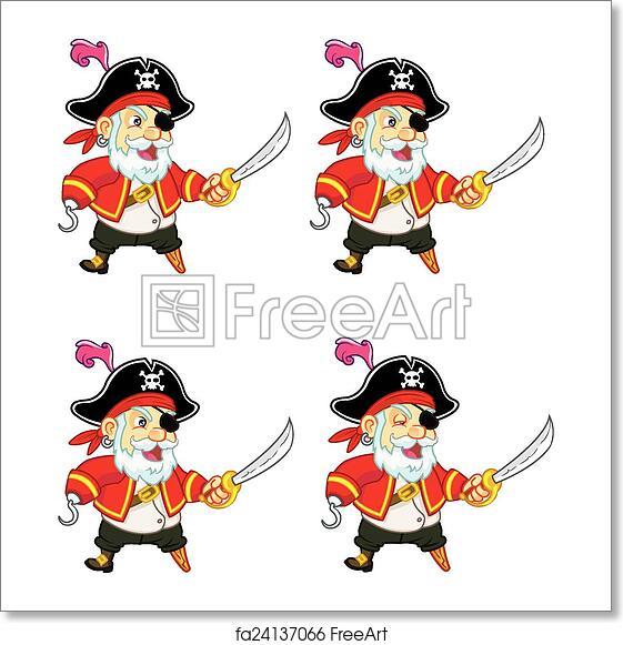 Free art print of Old Pirate Game Sprite