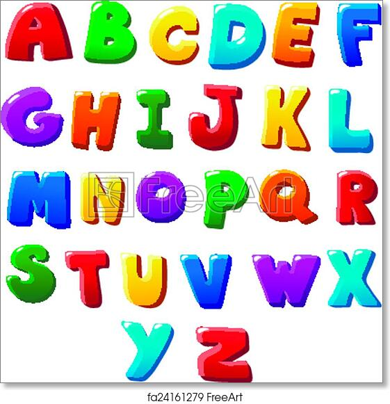 Free art print of Alphabet letters