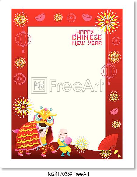 Free Art Print Of Chinese New Year Frame Lion Dance Chinese New