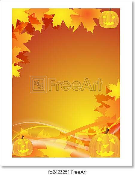 free art print of halloween flyer background abstract halloween
