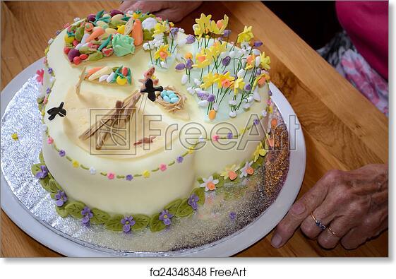 Free Art Print Of Beautiful Birthday Cake