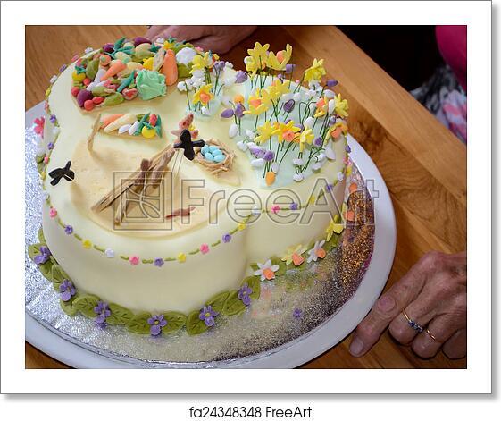 Admirable Free Art Print Of Beautiful Birthday Cake Beautiful Birthday Cake Funny Birthday Cards Online Fluifree Goldxyz