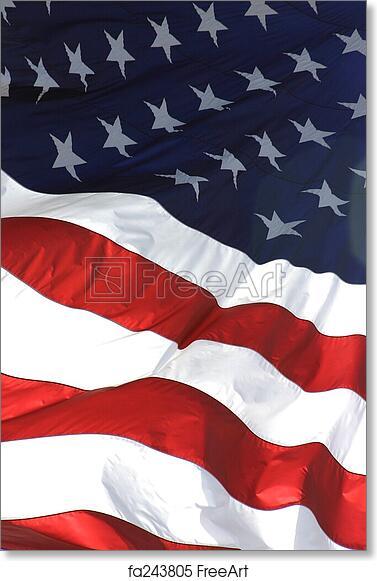 free art print of american flag vertical view american flag in