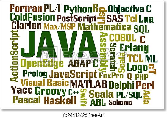 Free art print of Java Programming
