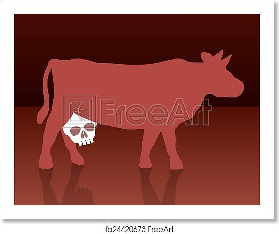 Free Art Print Of Milk Cow Unhealthy Skull A Cow With A Skull