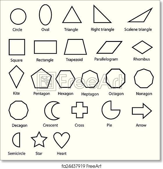 Free art print of Geometric shapes vector