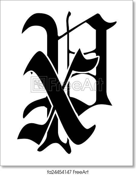 Free Art Print Of Chi Rho The Chi Rho Symbol From Letters Freeart