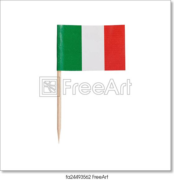 photograph regarding Printable Italy Flag referred to as No cost artwork print of Miniature Flag Italy. Isolated upon white history