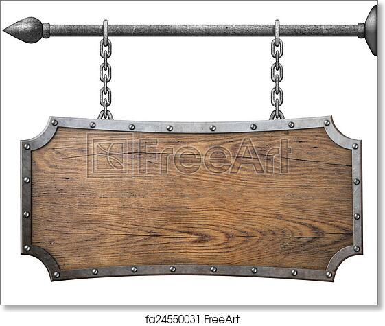 Free Art Print Of Wood Sign Hanging On Metal Chain