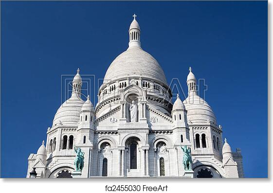 free art print of sacre coeur famous cathedral in paris france