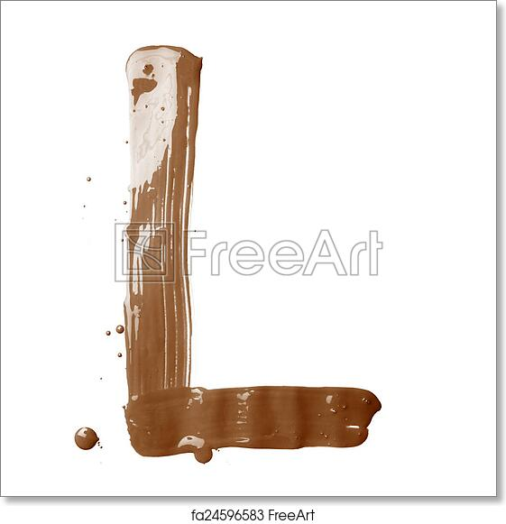 Free art print of Letter made with the paint strokes