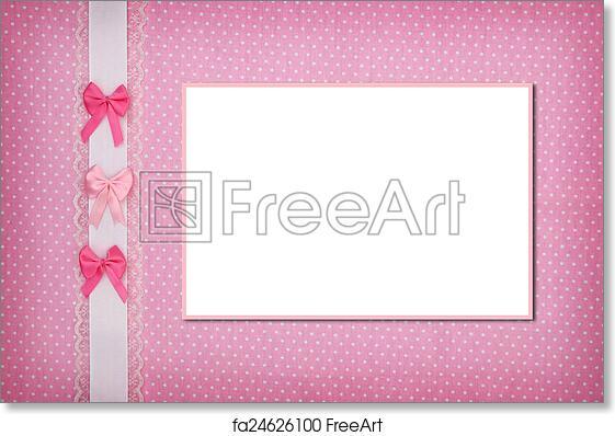 Free art print of Photo frame on pink polka dot background | FreeArt ...