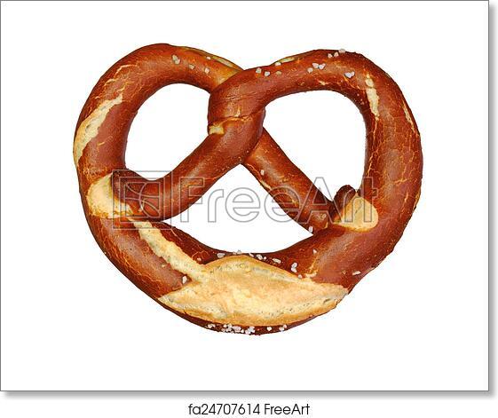 free art print of german oktoberfest pretzel on white background
