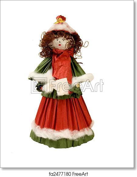 Christmas Carol Singers Figurines.Free Art Print Of Handmade Christmas Carol Singer