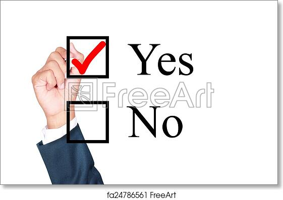 Free art print of Say yes tick mark on checkbox