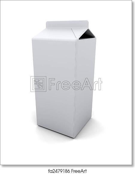 Free art print of Blank carton. 3D render of a blank milk carton ...