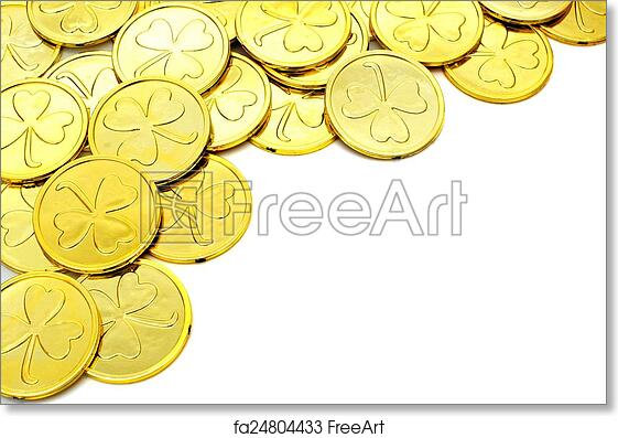 Free Art Print Of St Patricks Day Gold Coin Border