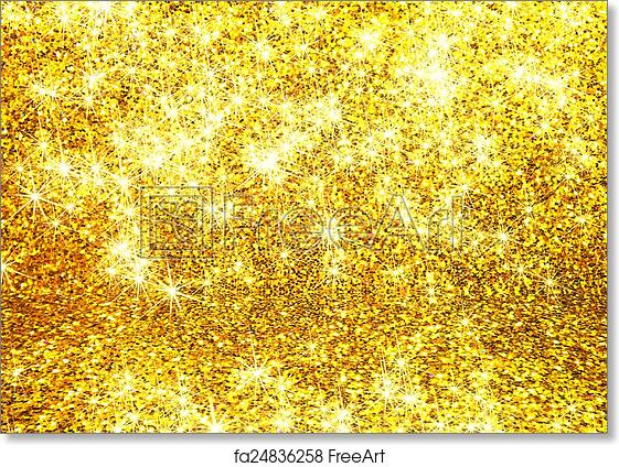 Free Art Print Of Abstract Gold Glitter Background