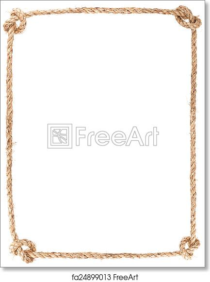 Free art print of Rope knot frame. Rope knot frame isolated on white ...