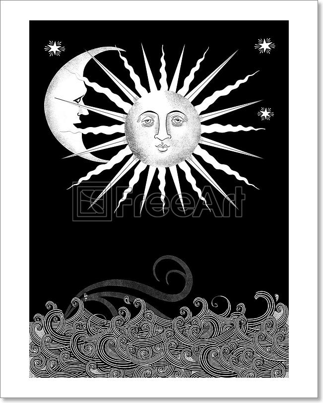 Decorative Sun And Art Print Canvas Print Poster Wall Art Home Decor C Ebay