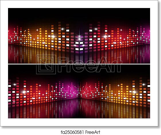 Free art print of Music Multicolor Equalizer Banners