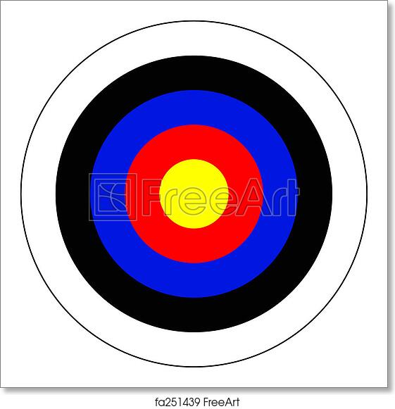 picture about Printable Archery Targets named Cost-free artwork print of Bullseye