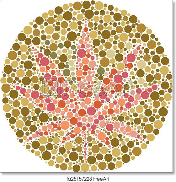 Free Art Print Of Ishihara Test. Ishihara Color Test Plate