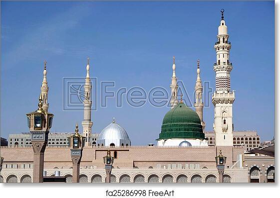 free art print of nabawi mosque medina saudi arabia masjid al