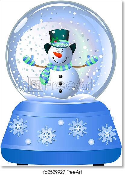 Free Art Print Of Snowman In Snow Globe