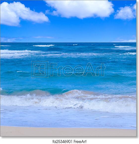 free art print of ocean background tropical water ocean sea