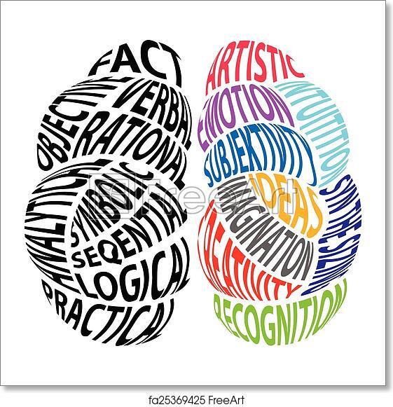Free Art Print Of Left Brain And Right Brain Vector Illustration Of Left Brain And Right Brain