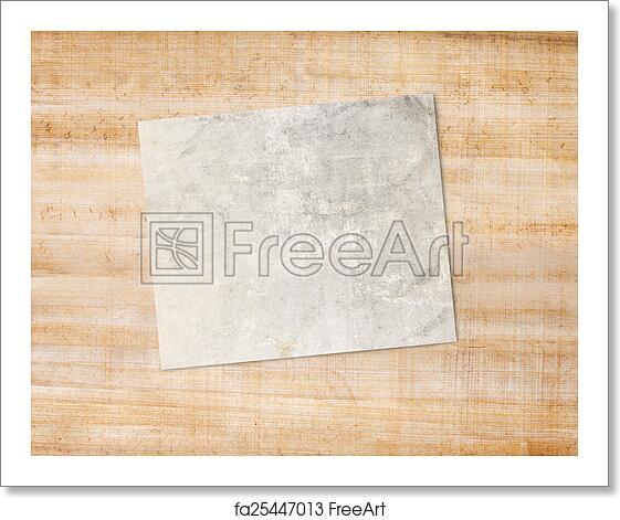 Free art print of Blank frame. Blank frame on paper background ...