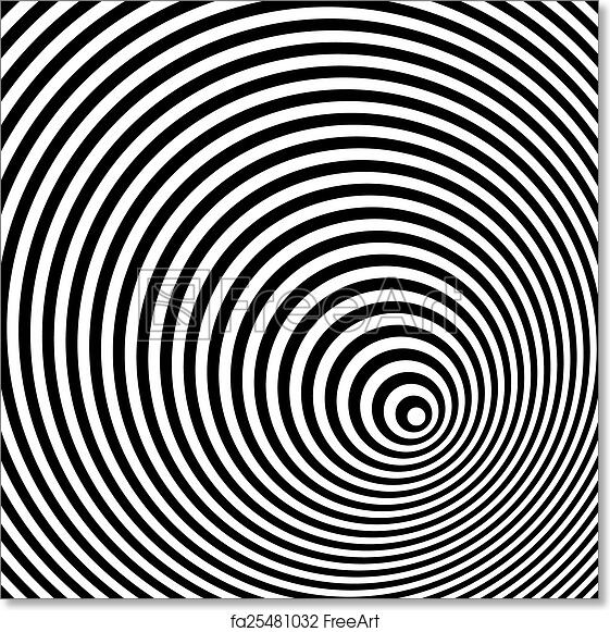 Free art print of a black and white optical illusion