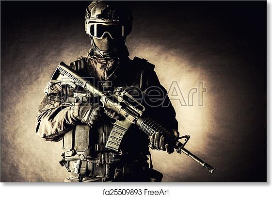Free art print of Spec ops police officer SWAT . Spec ops police ...